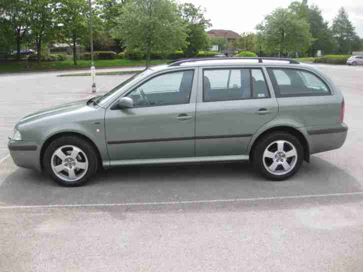 SKODA OCTAVIA ELEGANCE 1.9 TDI DIESEL ESTATE IN METALLIC GREEN 03 PLATE 2003
