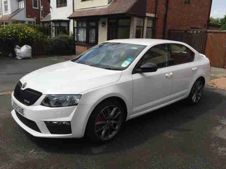Skoda Octavia Vrs Tdi Cr White Car For Sale