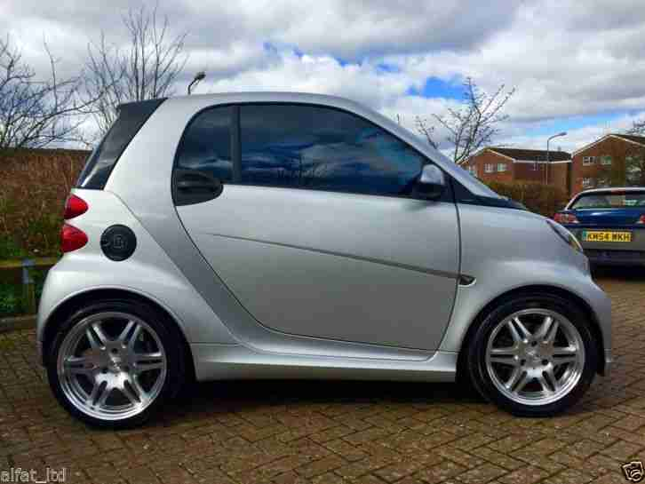 smart brabus fortwo xclusive 2010 silver reduced has a. Black Bedroom Furniture Sets. Home Design Ideas
