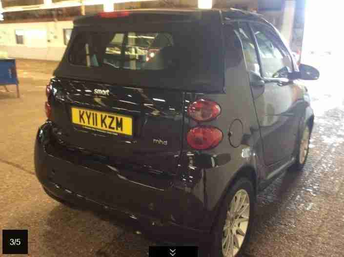 SMART CITY-CABRIOLET PASSION MHD, Black, Auto, Petrol, 2011