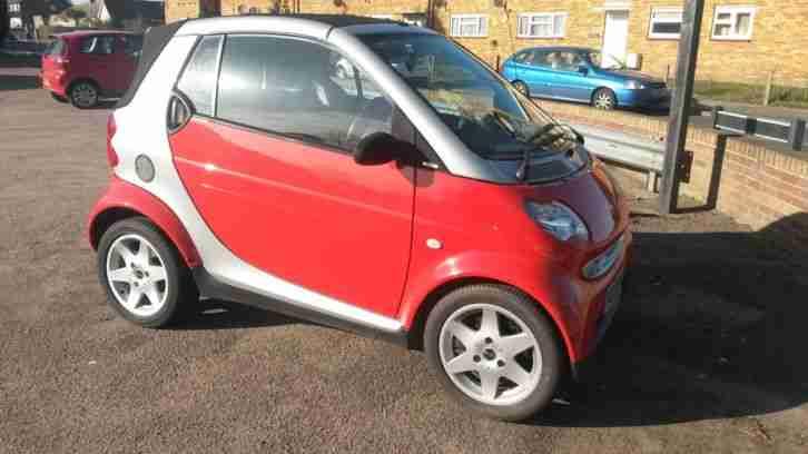 smart city pulse 50 auto red convertible 2003 03 60k car for sale. Black Bedroom Furniture Sets. Home Design Ideas