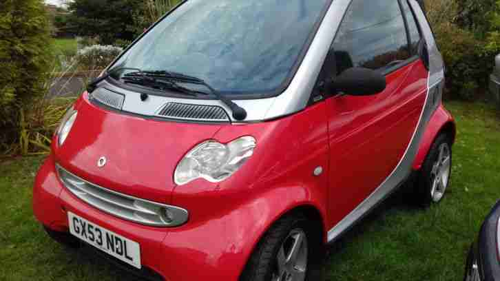 SMART CITY PULSE 61 SEMI-AUTO 2003 53 REG CABRIOLET 77k AUG 17 MOT ONLY £30 TAX!