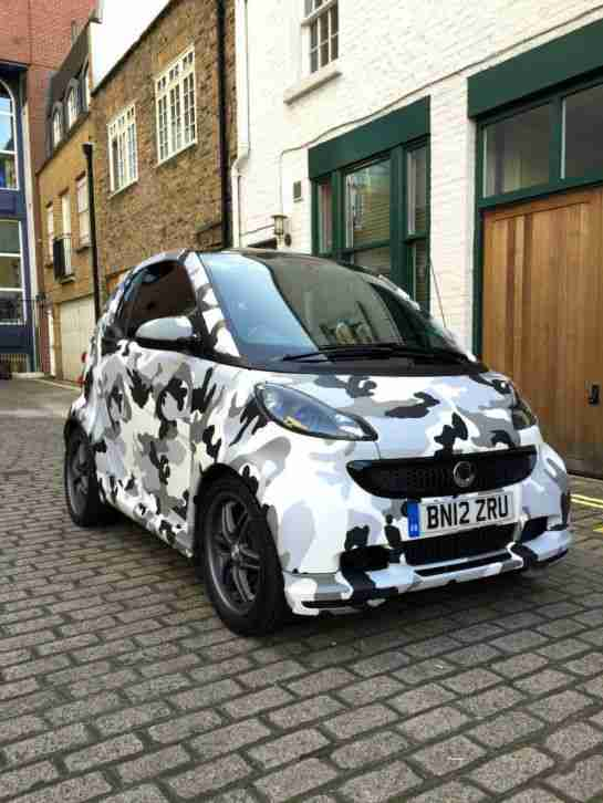 smart fortwo brabus xclusive black army car for sale. Black Bedroom Furniture Sets. Home Design Ideas