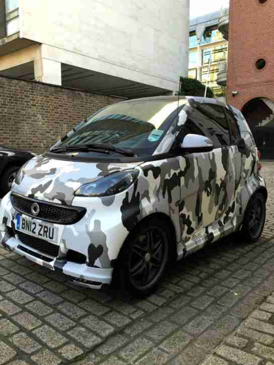 Smart Fortwo Brabus Xclusive Black Army Car For Sale