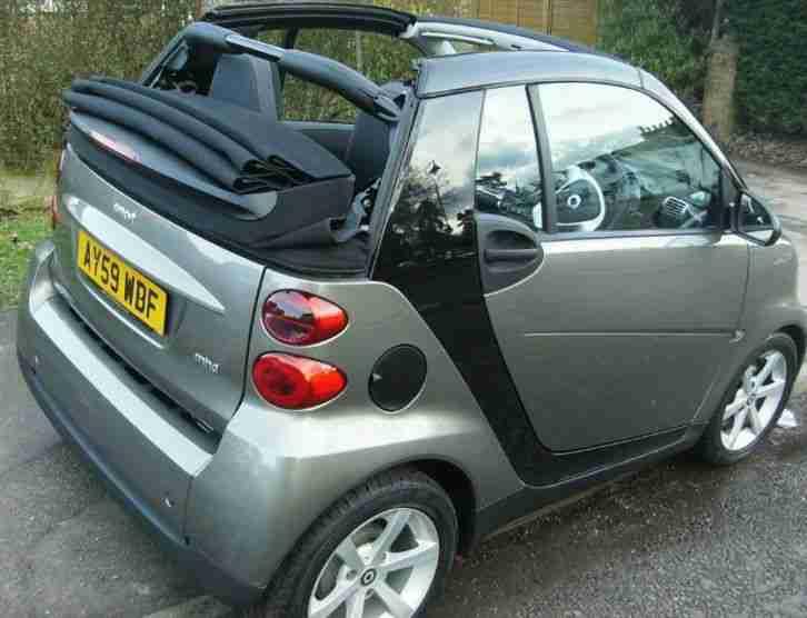 smart fortwo convertible grey 59 plate car for sale. Black Bedroom Furniture Sets. Home Design Ideas