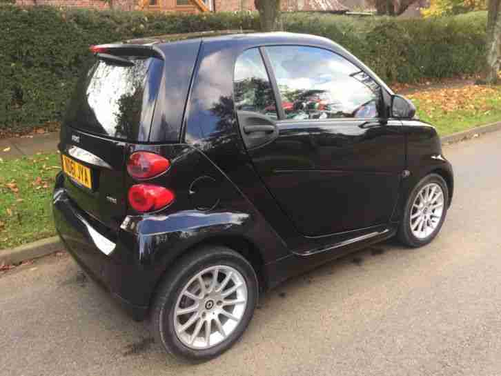 SMART FORTWO PASSION MHD 1.0L SEMI AUTO, PETROL, 2011 (61) BLACK. 30,000 Miles