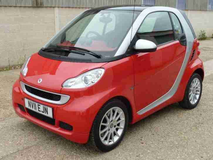 SMART FORTWO PASSION,TURBO 84 Bhp Red, Auto, Petrol, 2011