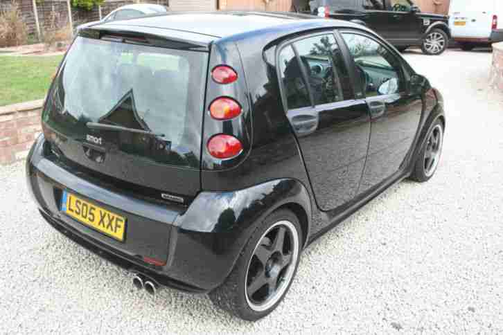 smart forfour brabus 2005 05 reg black full mot service history. Black Bedroom Furniture Sets. Home Design Ideas