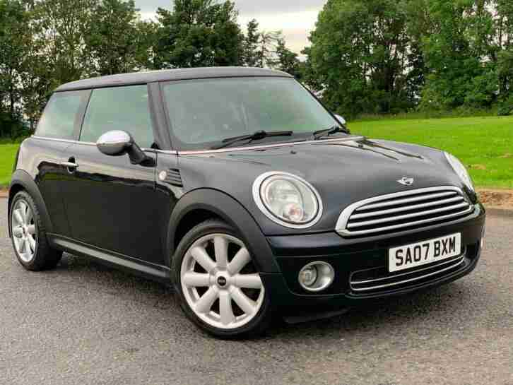 SOLD MINI COOPER 1.6 (120ps) FSH BLACK 3 DOOR HATCHBACK MANUAL PETROL