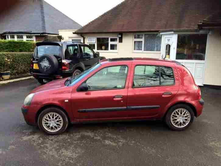 renault sold spares or repairs clio expression 80 1 5 dci diesel 5. Black Bedroom Furniture Sets. Home Design Ideas