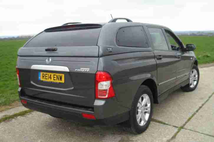 ssangyong korando sports ex grey 4x4 double cab pick up 2014 car for sale. Black Bedroom Furniture Sets. Home Design Ideas
