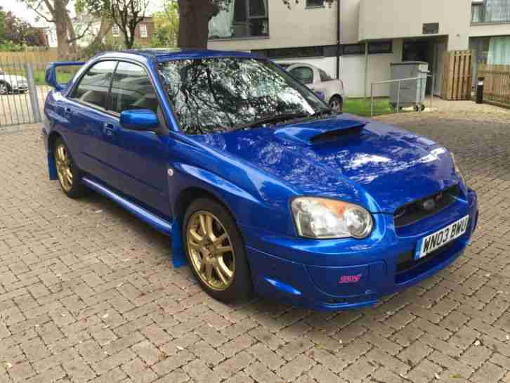 subaru impreza wrx sti type uk blue 2003 car for sale. Black Bedroom Furniture Sets. Home Design Ideas