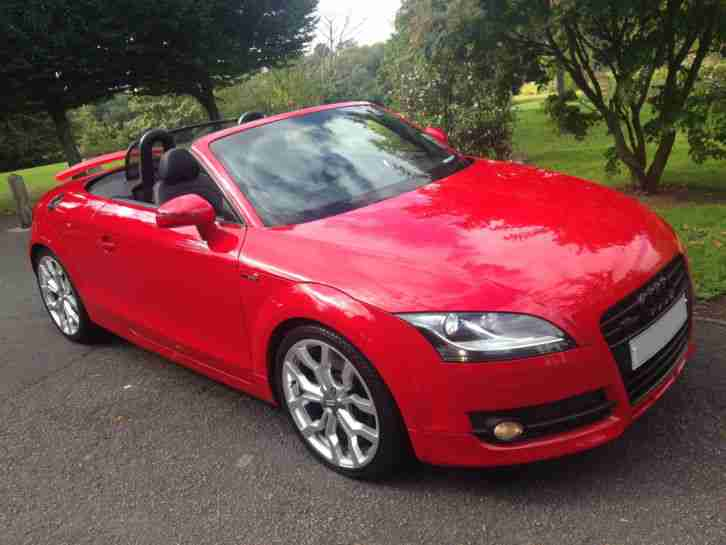 SUPERB AUDI TT CABRIO 3.2 6-SPEED,FLAME RED/FULL HEATED BLACK LEATHER, R8 ALLOYS