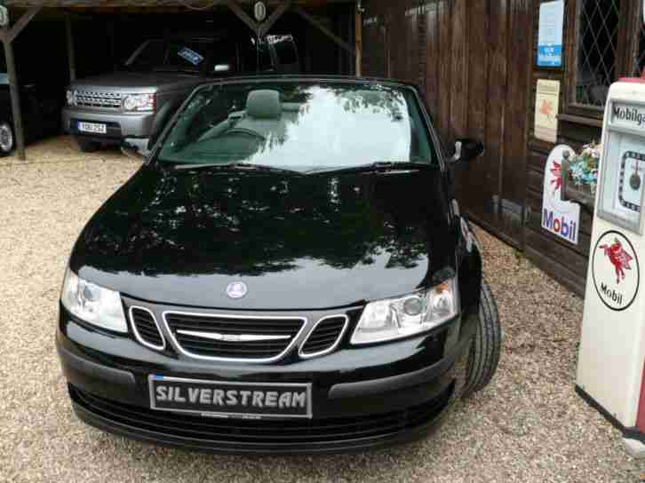 Saab 9-3 1.8t 2007MY Linear convertible black
