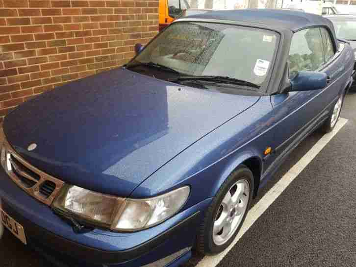Saab 9 3 2.0 aero convertible 99p start NO RESERVE