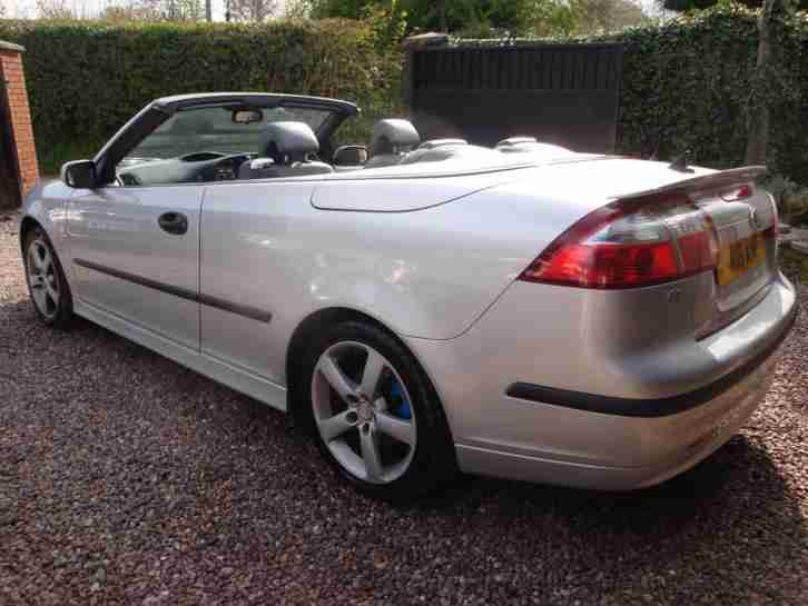 saab 9 3 vector convertible 2005 55 plate car for sale. Black Bedroom Furniture Sets. Home Design Ideas