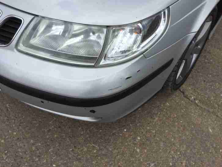 Saab 9-5 2.2 Tid Linear Estate Silver, leather, upgraded alloys mot july 2017