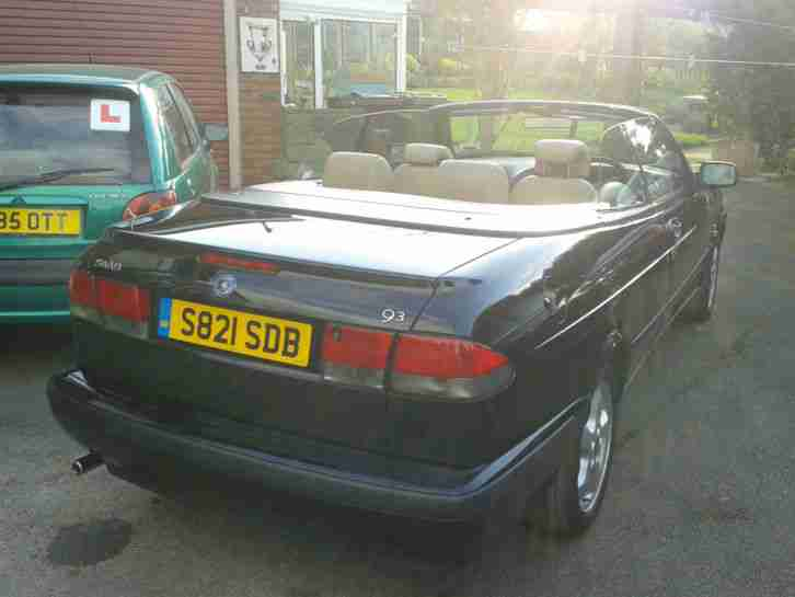 Saab 93 SE Convertible 2.0 injection Black
