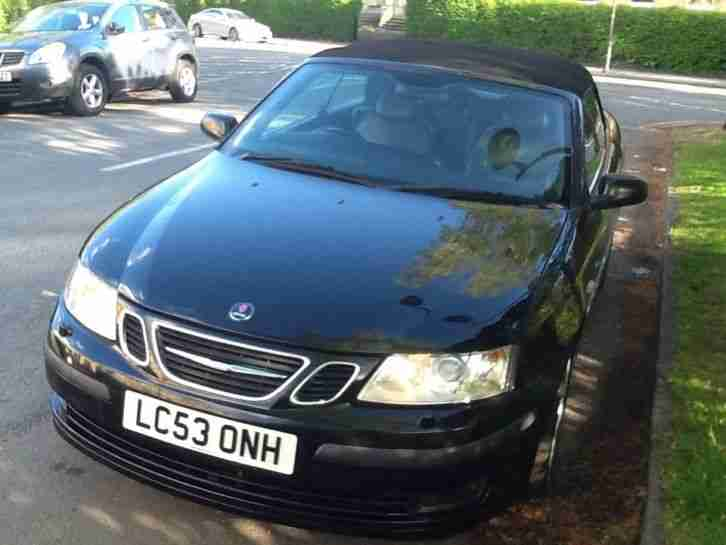 Saab 93 vector convertible Dec 2003 black with grey leather great car all year!!