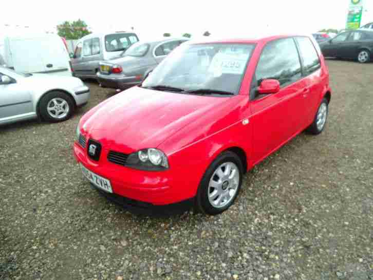 Arosa 1.0 MPi, 3 Dr Hatch, Alloys, Red, Cheap tax Insurance, 54 reg