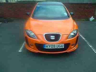Seat Leon FR ORANGE 2009 LOW MILEAGE!TAX MOT MINT nt bmw audi vauxhall vw golf