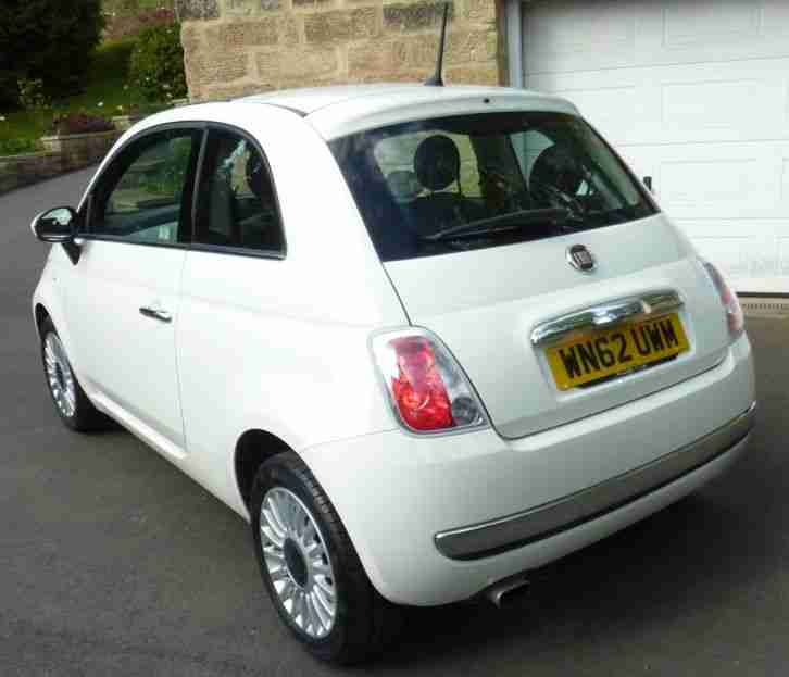 Fiat September 2012 500 Lounge RHD White Only 7,900 Miles