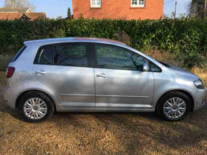 silver vw golf plus s bluemotion 60 2010 1 6 diesel 36k miles car for sale. Black Bedroom Furniture Sets. Home Design Ideas
