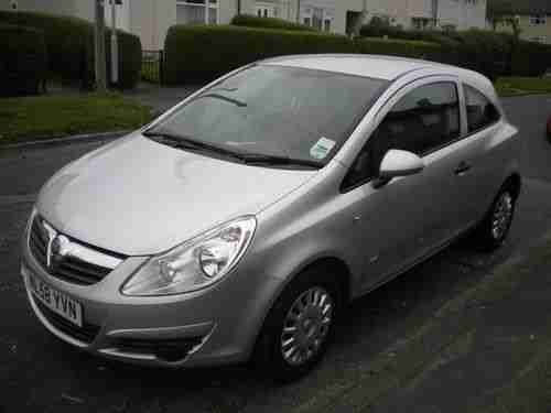 silver vauxhall corsa 2008 58 life car for sale. Black Bedroom Furniture Sets. Home Design Ideas