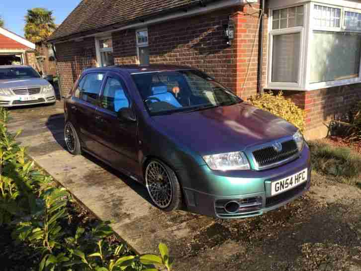 Skoda Fabia VRS ( Show Car, Modified Car, not Polo GT, Ibiza FR )