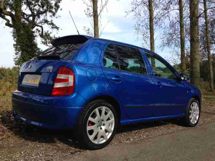 Skoda Fabia Vrs Se Special Edition No518 Fsh Unmodified 54k Race Blue