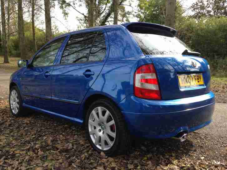 Skoda Fabia vRS SE Special Edition No:518 FSH Unmodified 54k Race Blue