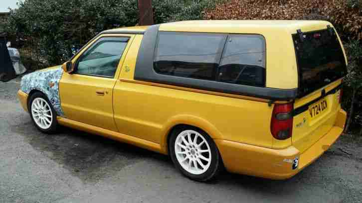 skoda felicia fun pick up vw caddy lowered modified car for sale. Black Bedroom Furniture Sets. Home Design Ideas
