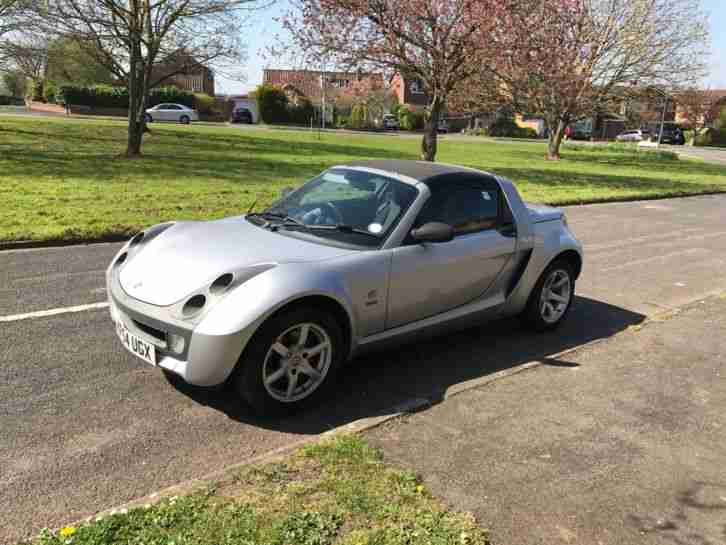 Smart Car Roadster Speed Silver Convertible