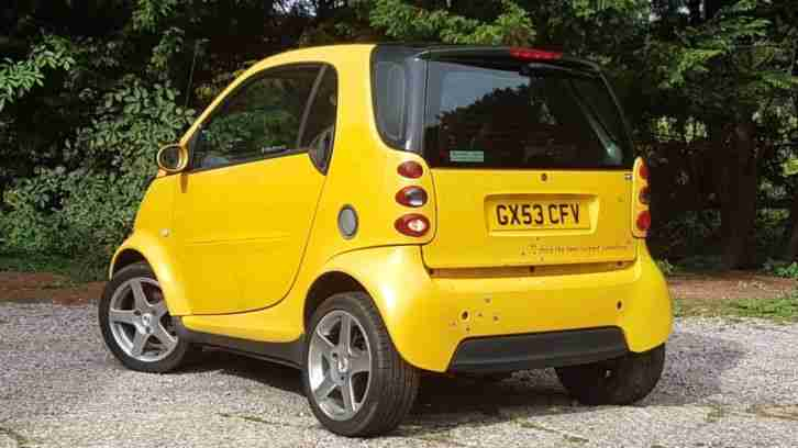 Smart For Two Passion 700, Pearlescent Yellow, Kahn Alloys, Front spoiler