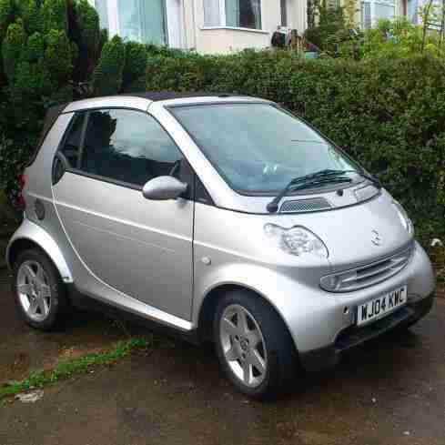 Smart Passion Convertible, 2004, 698cc, 33,000miles, in Silver.
