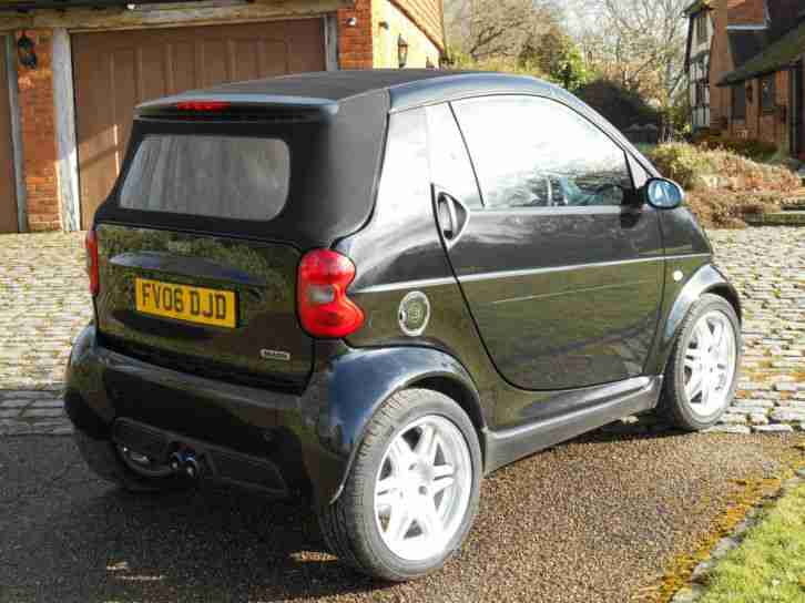 smart 0 7 fortwo brabus convertible only 22 000mls one owner car for sale. Black Bedroom Furniture Sets. Home Design Ideas