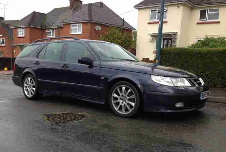Spares Repair 2002 Saab 9 5 Aero HOT (2.3 Turbo) Auto Estate Dark Blue Metallic