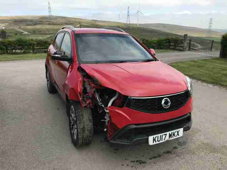 Ssangyong KORANDO 2.2TD 4WD ELX 2017 (17) DAMAGED REPAIRABLE