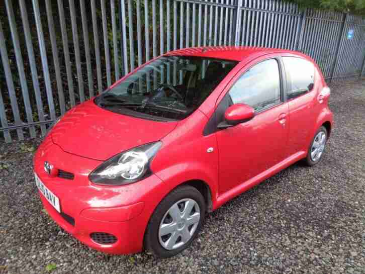TOYOTA AYGO 1.0 PETROL 2010 65,000 MILES 3 DR RED MOT 12 months FULL HISTORY