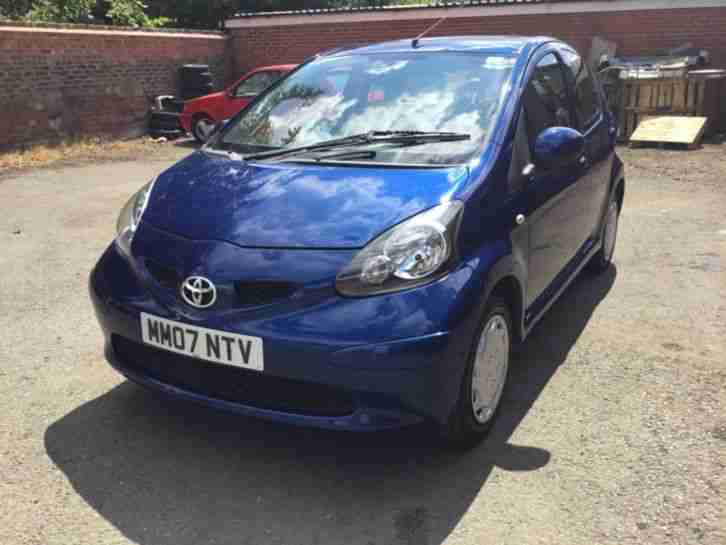 Toyota AYGO BLUE. Toyota car from United Kingdom
