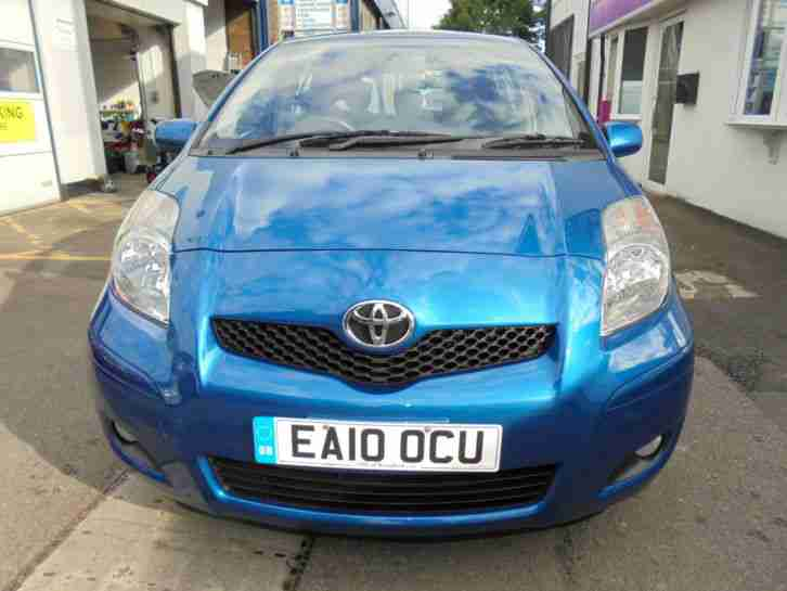 TOYOTA YARIS 1.0 2010 IN BLUE ONLY 38,000 MILES LOW TAX LOW INSURANCE CALL NOW