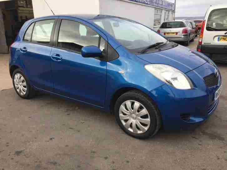 TOYOTA YARIS VVT i T3 5 DOOR Blue Manual Petrol, 2008