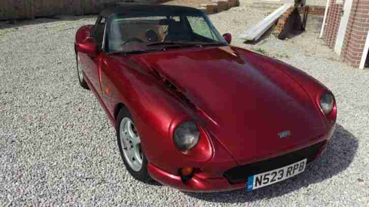 "TVR CHIMAERA 400 1996 PEARL ""NIGHTFIRE"" RED, LOTS OF RECENT ADDITIONS"