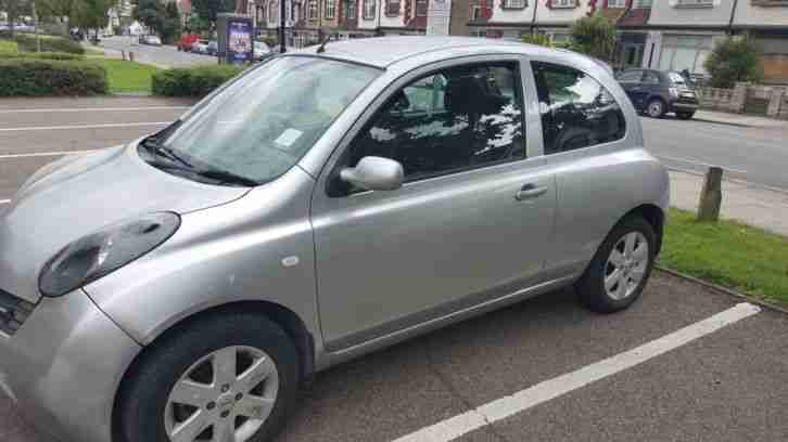 Three door Nissan Micra, valid MOT Road tax.