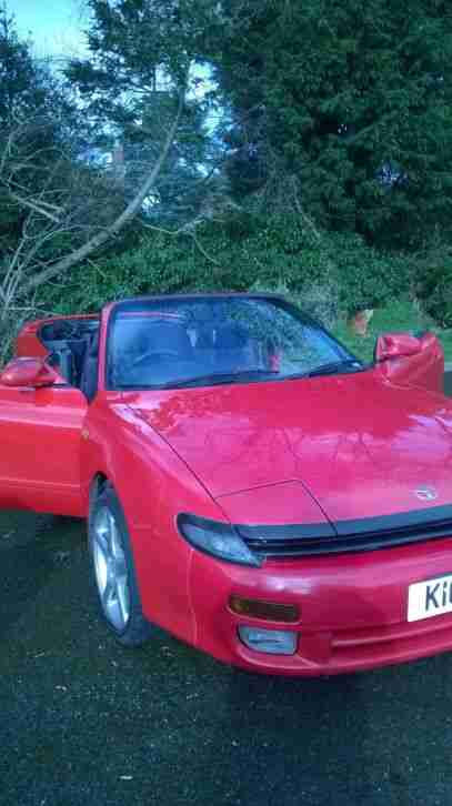toyota celica convertible automatic red car for sale. Black Bedroom Furniture Sets. Home Design Ideas