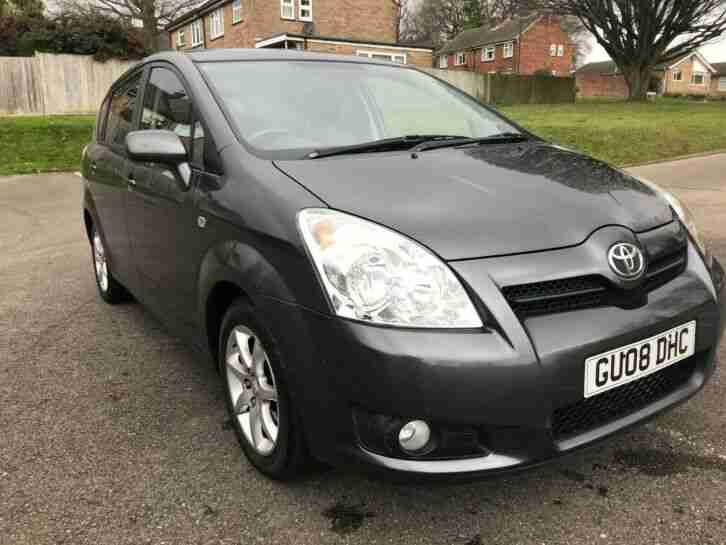 Toyota Corolla Verso SR 1.8 VVTi 2008, only 73000m. Long MOT. Drives beautifully