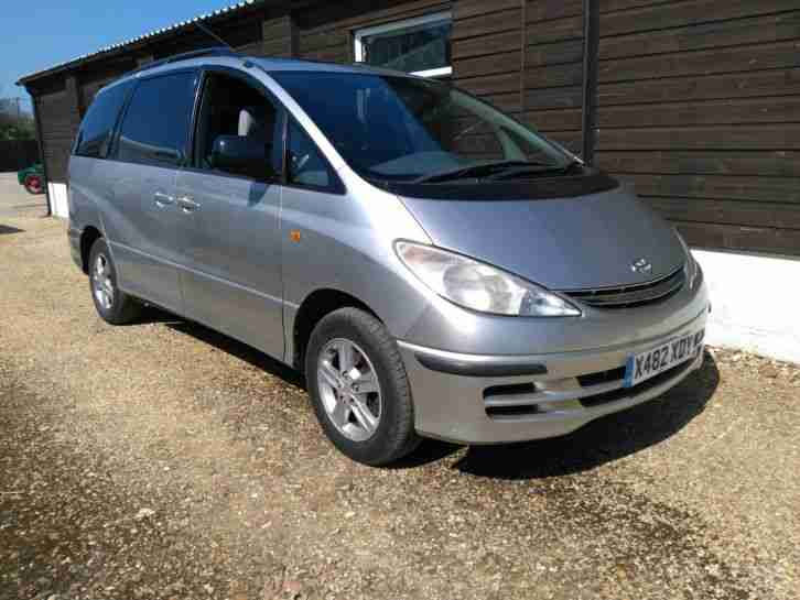 Toyota Previa CDX. Toyota car from United Kingdom