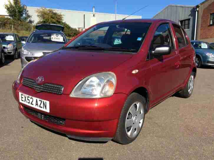 toyota yaris 1 0 vvti red 2001 51 colour collection car for sale. Black Bedroom Furniture Sets. Home Design Ideas