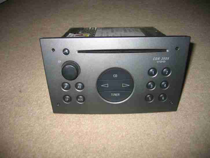 VAUXHALL CDR 2005 VDO RADIO CD PLAYER WITH CODE CORSA VECTRA OMEGA ETC!!