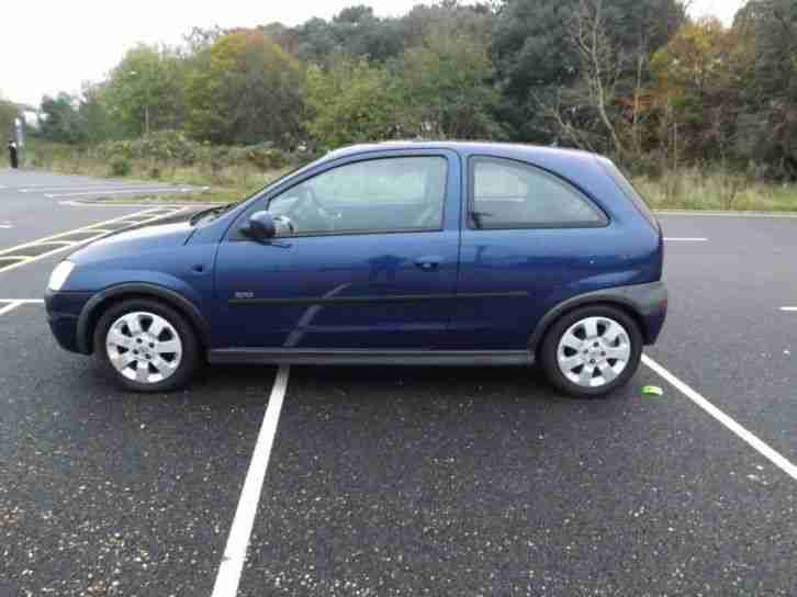 VAUXHALL CORSA SXI 16V 2002 Petrol Manual in Blue